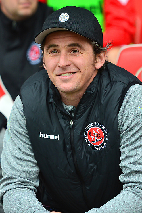 Fleetwood Town manager Joey Barton looks on prior to the match<br /> <br /> Photographer Richard Martin-Roberts/CameraSport<br /> <br /> The EFL Sky Bet League One - Fleetwood Town v Ipswich Town - Saturday 5th October 2019 - Highbury Stadium - Fleetwood<br /> <br /> World Copyright © 2019 CameraSport. All rights reserved. 43 Linden Ave. Countesthorpe. Leicester. England. LE8 5PG - Tel: +44 (0) 116 277 4147 - admin@camerasport.com - www.camerasport.com