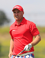 Wallace Booth (SCO) on the 1st tee during Round 1 of the Challenge de Madrid, a Challenge  Tour event in El Encin Golf Club, Madrid on Wednesday 22nd April 2015.<br /> Picture:  Thos Caffrey / www.golffile.ie