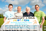 Barraduff Field Development Organisation are kick-starting their fund-raising efforts on Sunday, September 30th with a four mile fun run. .L-R Kieran Murphy (fundraising committee), Pa Riordan (vice chairman of Barraduff Field Organisation), Tadhg O'Donoghue(chairman) and Vincent Donovan (fund-raising committee)