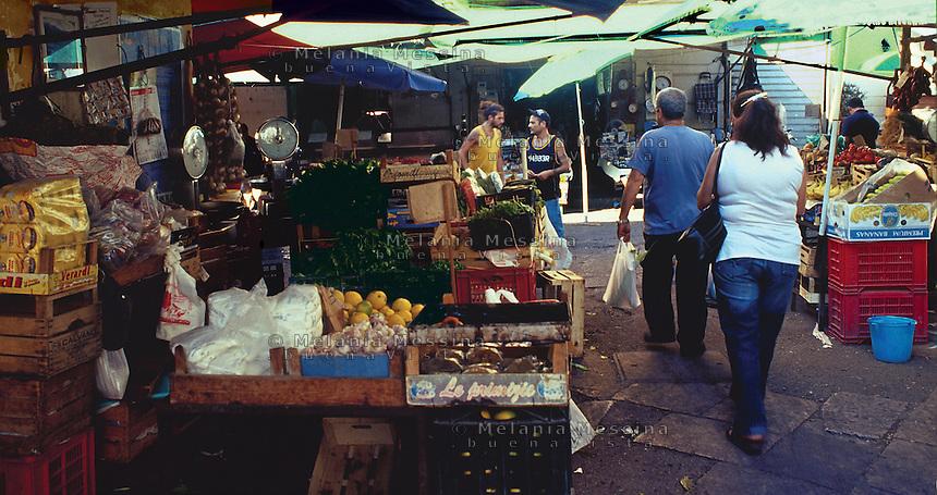 Ballaro' market, Palermo.<br /> Mercato di Ballaro' Palermo