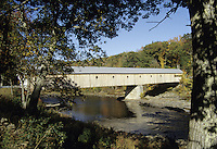 Vermont.The Dummerston covered bridge (built 1872) which spans the West river