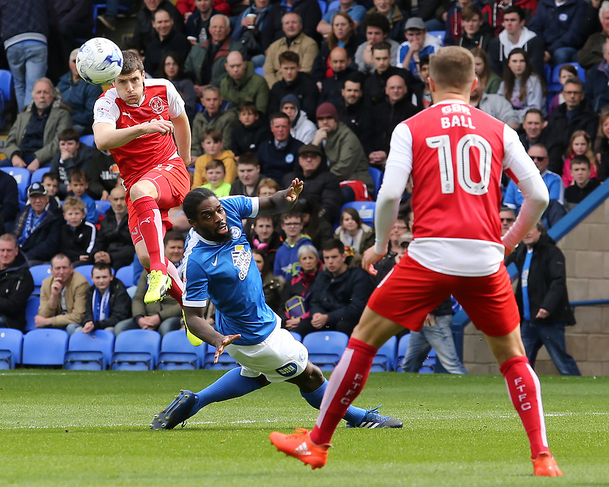 Fleetwood Town's Bobby Grant squeezes a cross into the Peterborough United box<br /> <br /> Photographer David Shipman/CameraSport<br /> <br /> The EFL Sky Bet League One - Peterborough United v Fleetwood Town - Friday 14th April 2016 - ABAX Stadium  - Peterborough<br /> <br /> World Copyright &copy; 2017 CameraSport. All rights reserved. 43 Linden Ave. Countesthorpe. Leicester. England. LE8 5PG - Tel: +44 (0) 116 277 4147 - admin@camerasport.com - www.camerasport.com