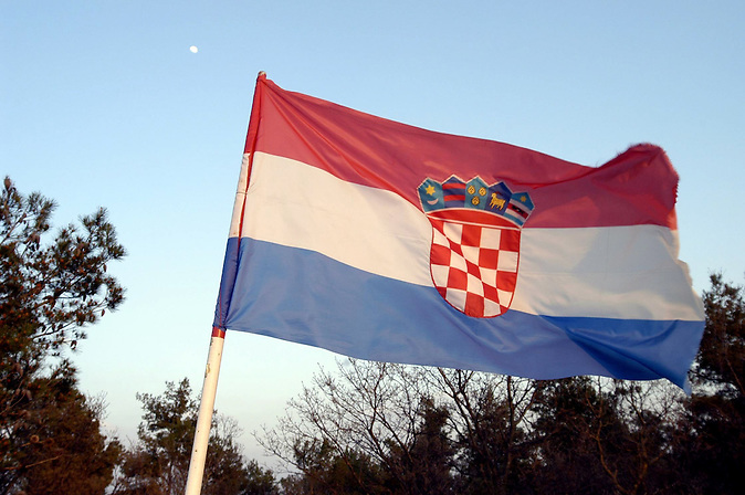 Fahne der Republik Kroatien - Zastava Republika Hrvatska - Flag of the Republic of Croatia