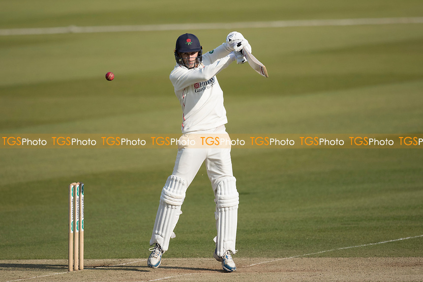 Graham Onions of Lancashire CCC aerially square over point for a boundary during Middlesex CCC vs Lancashire CCC, Specsavers County Championship Division 2 Cricket at Lord's Cricket Ground on 13th April 2019
