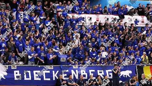 2010-01-23 / Korfbal / Europacup 2010 finale / Boeckenberg - DOS'46 / Boeckenberg supporters..Foto: mpics