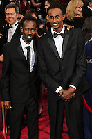 HOLLYWOOD, LOS ANGELES, CA, USA - MARCH 02: Barkhad Abdi, Faysal Ahmed at the 86th Annual Academy Awards held at Dolby Theatre on March 2, 2014 in Hollywood, Los Angeles, California, United States. (Photo by Xavier Collin/Celebrity Monitor)