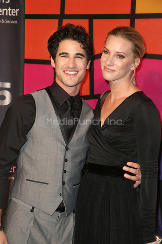 CULVER CITY, CA - OCTOBER 21: Darren Criss and Heather Morris at Providence Saint John's 75th Anniversary Gala Celebration at Labs in Culver City, California on October 21, 2017. Credit: Faye Sadou/MediaPunch