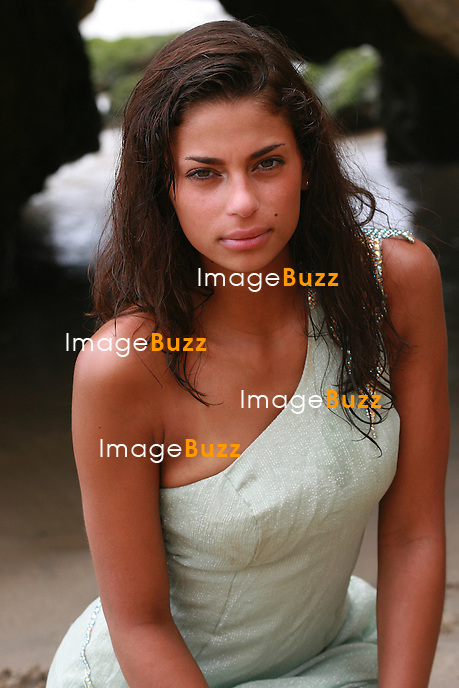 Tatiana Silva, Miss Belgium 2005 ; photoshoot in Malibu, El Matador Beach..July 27th, 2006.