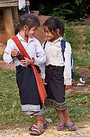 Laos. Hill tribe girls.