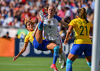 San Diego, CA - Sunday July 30, 2017: Gabi Nunez during a 2017 Tournament of Nations match between the women's national teams of the United States (USA) and Brazil (BRA) at Qualcomm Stadium.
