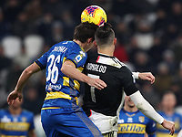 Calcio, Serie A: Juventus - Parma, Turin, Allianz Stadium, January 19, 2020.<br /> Juventus' Cristiano Ronaldo (r) in action with Parma's Matteo Darmian (l) during the Italian Serie A football match between Juventus and Parma at the Allianz stadium in Turin, January 19, 2020.<br /> UPDATE IMAGES PRESS/Isabella Bonotto