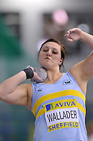 Photo: Tony Oudot/Richard Lane Photography. Aviva World Trials & UK Championships. 13/02/2010. .Womens Shot Put. .Rachel Wallader.