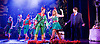 Elf <br /> by Thomas Meehan and Bob Martin <br /> at the Dominion Theatre, London, Great Britain <br /> press photocall <br /> 2nd November 2015 <br /> <br /> Ben Forster as Buddy <br /> Kimberley Walsh as Jovie<br /> Graham Lappin as store manager <br /> <br /> <br /> <br /> Photograph by Elliott Franks <br /> Image licensed to Elliott Franks Photography Services