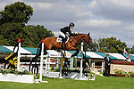 Stamford, Lincolnshire, United Kingdom, 8th September 2019, Becky Woolven (GB) & DHI Babette K during the Show Jumping Phase on Day 4 of the 2019 Land Rover Burghley Horse Trials, Credit: Jonathan Clarke/JPC Images