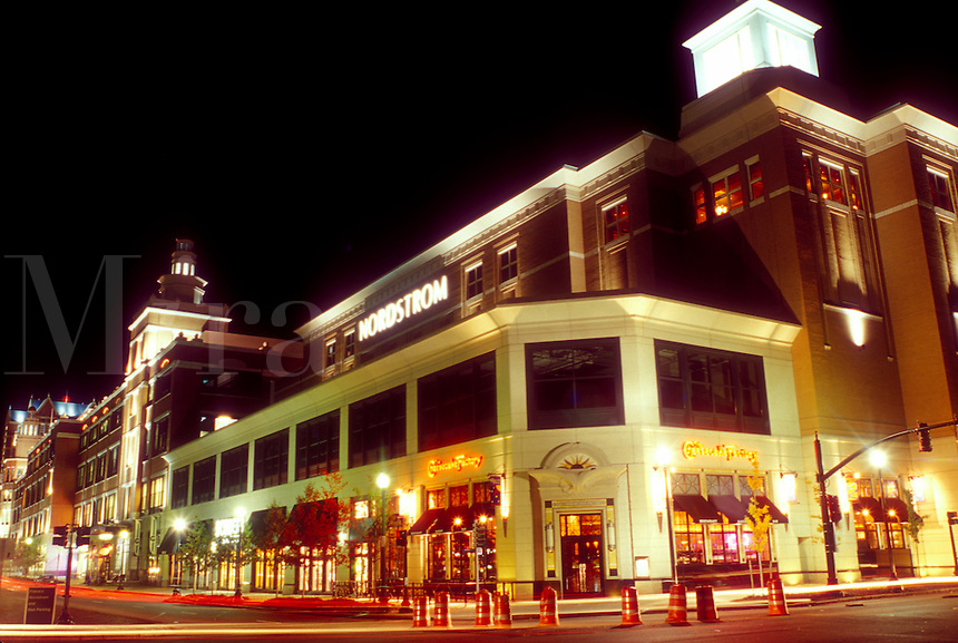 Providence, Rhode Island, RI, Providence Place Mall is illuminated at night in downtown Providence.