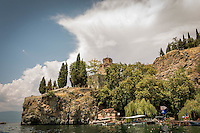 Makedonien. Ohrid set fra båd. Foto: Jens Panduro