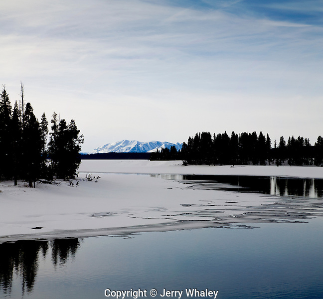 Winter, Yellowstone Lake, Yellowstone NP, WY
