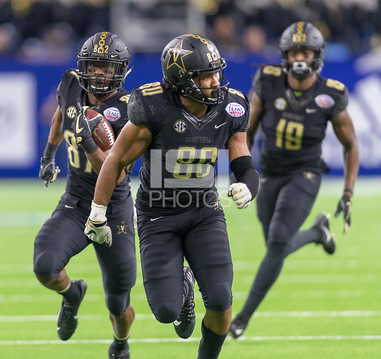 Houston, TX - Thursday December 27, 2018: Vanderbilt vs Baylor in the Texas Bowl at NRG Stadium.