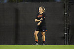 27 October 2016: Clemson assistant coach Siri Mullinix. The Duke University Blue Devils hosted the Clemson University Tigers at Koskinen Stadium in Durham, North Carolina in a 2016 NCAA Division I Women's Soccer match. Clemson won the game 1-0.
