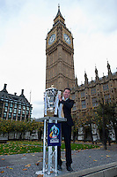 PICTURE BY ALEX BROADWAY/SWPIX.COM - Rugby League - RLWC2013 - Rugby League World Cup Parliament Visit - Westminster, London, England  - 31/10/12 - MP's have their photograph taken with the Rugby League World Cup outside the Houses of Parliament.