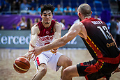 5th September 2017, Fenerbahce Arena, Istanbul, Turkey; FIBA Eurobasket Group D; Turkey versus Belgium; Small Forward Cedi Osman of Turkey passes the ball during the match
