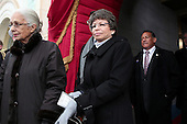 Valerie Jarrett, Senior Advisor to President Barack Obama arrives for the presidential inauguration on the West Front of the U.S. Capitol January 21, 2013 in Washington, DC.   Barack Obama was re-elected for a second term as President of the United States.      .Credit: Win McNamee / Pool via CNP