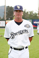 August 12, 2009: New Yost of the Helena Brewers. The Helena Brewers are the Pioneer League affiliate of the Milwaukee Brewers. Photo by: Chris Proctor/Four Seam Images