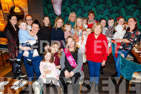 Fidelma McGinty from Tralee enjoying her baby shower with friends in the Ashe Hotel on Sunday afternoon.