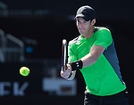 Andy Murray (GBR) defeats Joao Sousa (POR) 6-1, 6-1, 7-5 at the Australian Open being played at Melbourne Park in Melbourne, Australia on January 23, 2015