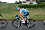 Clément Carisey (FRA) Israel Cycling Academy in the breakaway again during Stage 2 of the Route d'Occitanie 2019, running 187.7km from Labruguière to Martres-Tolosane, France. 21st June 2019<br /> Picture: Colin Flockton | Cyclefile<br /> All photos usage must carry mandatory copyright credit (© Cyclefile | Colin Flockton)