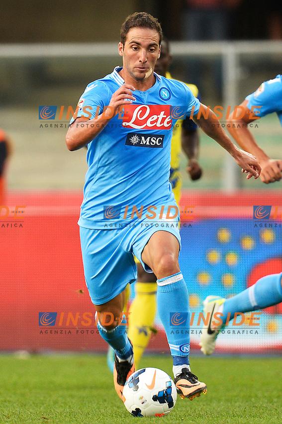 Gonzalo Higuain Napoli <br /> Verona 31-08-2013 Stadio Bentegodi <br /> Football Calcio Campionato Italiano Serie A<br /> Chievo - Napoli <br /> Foto Andrea Staccioli Insidefoto