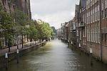 Canal waterway and historic buildings, Dordrecht, Netherlands