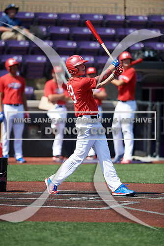 Matt Rudis (19) of Madisonville High School in Madisonville, Texas during the Under Armour All-American Game practice presented by Baseball Factory on July 28, 2017 at Rocky Miller Park in Evanston, Illinois.  (Mike Janes/Four Seam Images)