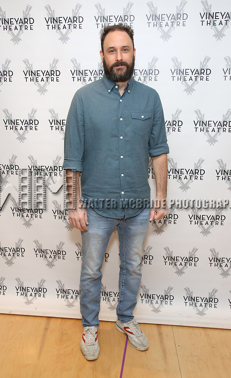 """Greg Keller attends the photo call for the Vineyard Theatre production of """"Do You Feel Anger?"""" at the Vineyard Theater Rehearsal studio Theatre on February 14, 2019 in New York City."""