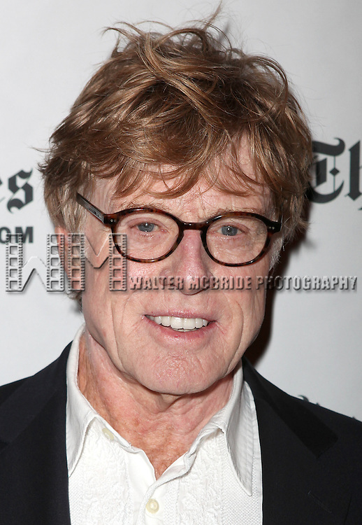 Robert Redford attends the Times Talks at the 10th Annual New York Times Arts & Leisure Weekend at the Times Center in New York City.