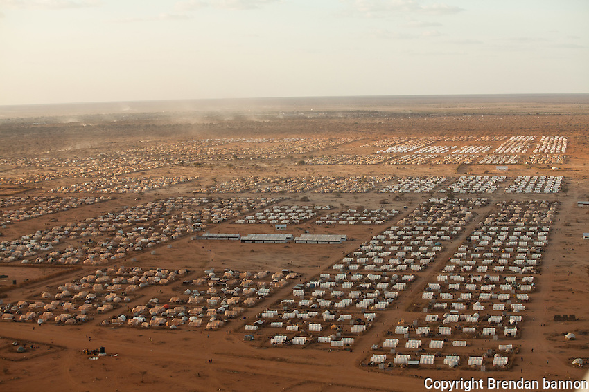 Ifo 3, an extension to the world's largest refugee camp complex in Dadaab, Kenya. The camp was created to give shelter and services to the huge influx of refugees to Dadaab refugee camps from Somalia in 2011. October, 2011. Brendan Bannon/IOM/UNHCR