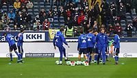Schalke macht sich warm - 16.12.2017: Eintracht Frankfurt vs. FC Schalke 04, Commerzbank Arena, 17. Spieltag Bundesliga
