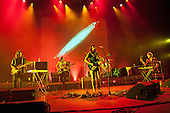 Tame Impala - L-R: Dominic Simper, Cam Avery, Kevin Parker, Jay Watson - performing live at The Hammersmith Apollo, London UK - 25 June 2013.   Photo credit: Justin Ng/Music Pics Ltd/IconicPix