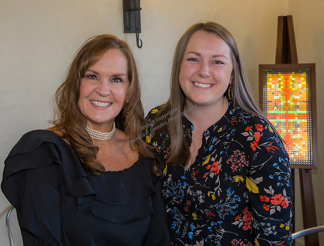 Holly LaChappell and Juliet Tilly during Reno Magazine's Home Decor Workshop at Aspen Leaf Interiors Studio in Reno on Saturday, March 24, 2018.
