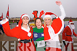 Taking part in the Santa 5k fun run at Tralee Bay Wetlands on Sunday were l-r: Caroline McConnell, Deirdre Power and Michelle Greaney.