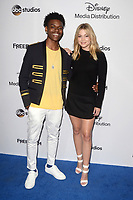 LOS ANGELES - MAY 21:  Aubrey Joseph, Olivia Holt at the 2017 ABC/Disney Media Distribution International Upfront at the Walt Disney Studios on May 21, 2017 in Burbank, CA