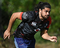 Tohu Harris.<br /> Vodafone Warriors training session. Mt Smart Stadium, Auckland, New Zealand. NRL Rugby League. Wednesday 9 May 2018 &copy; Copyright photo: Andrew Cornaga / www.photosport.nz