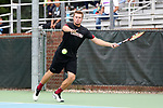 CHAPEL HILL, NC - MAY 13: South Carolina's Alex Fennell. The University of North Carolina Tar Heels hosted the University of South Carolina Gamecocks on May 13, 2017, at The Cone-Kenfield Tennis Center in Chapel Hill, NC in an NCAA Division I Men's College Tennis Tournament second round match. UNC won 4-1.