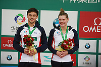 Beijing, CHINA-10th March 2018: British diver Tom Daley. Chinese divers Wang Han and Li Zheng win the gold medal of mixed 3m synchronized springboard at FINA Diving World Series in Beijing, March 10th, 2018. (EDITORIAL USE ONLY. CHINA OUT)