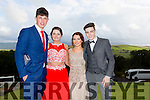 Enjoying a great time at the Milltown Presentation Debs at Ballyroe Heights Hotel on Tuesday were Max Kennedy, Lisa Murphy, Marie Groves and Killian Flemming