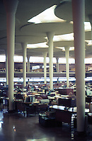 F.L. Wright: S.C. Johnson & Son. Interior.  Photo '77.