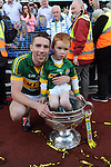Marc O&quot;Se with his nephew celebrate in the All-Ireland Football Final  in Croke Park 2014.<br /> Photo: Don MacMonagle<br /> <br /> <br /> Photo: Don MacMonagle <br /> e: info@macmonagle.com