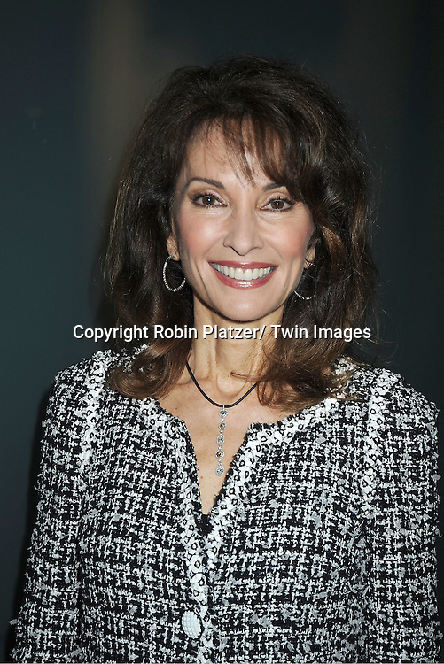 actress Susan Lucci in black and white Chanel jacket attends the Little Flower Children and Family Services of New York Awards Dinner  on May 9, 2012 at Guastavinos in New York City. Robert B Campbell was the honoree.