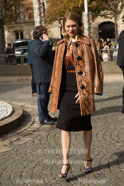 Lea Seydoux attend Miu Miu Show Front Row - Paris Fashion Week  2016.<br /> October 7, 2015 Paris, France<br /> Picture: Kristina Afanasyeva / Featureflash
