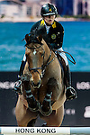 Raena Lung of Hong Kong riding Orphee du Granit competes at the Hong Kong Jockey Club trophy during the Longines Hong Kong Masters 2015 at the AsiaWorld Expo on 13 February 2015 in Hong Kong, China. Photo by Xaume Olleros / Power Sport Images